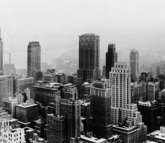 Vintage photo of Manhattan skyscrapers