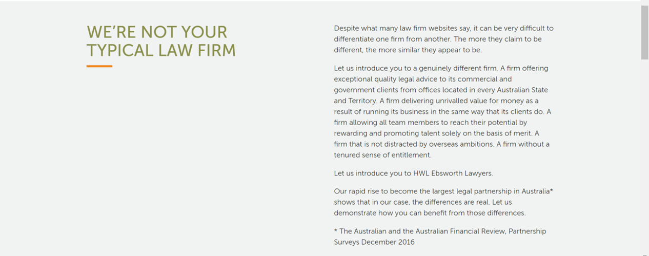 By claiming it is different, this law firm showed it's much the same